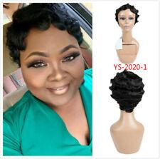 Short Human Hair Wigs For Black Women Finger Wave Wig Brazilian Wave Human Hair