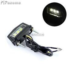 E-Mark 12V LED Number License Plate Light Rear Tail Lamp For Motorcycle Custom