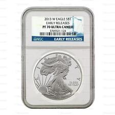 New 2013 W American Silver Eagle 1oz Early Releases NGC PF70 Ultra Cameo Proof