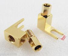 2pcs Gold Plated Copper Spade Banana Fork plug Mcintosh Amp Speaker Adapter US