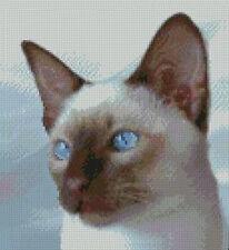 """Siamois cat 2 complet Compté Cross Stitch Kit 8,8 """"x 8"""""""