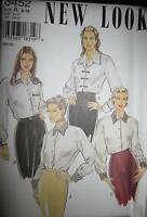 6452 Vintage NEW LOOK Pattern Misses Blouse Shirt Top UNCUT Sewing OOP SEW 8-18