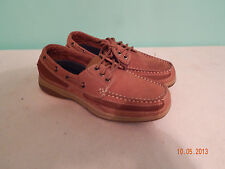 Mens shoes casual Brown Leather Boat size 8 Croft & Borrow