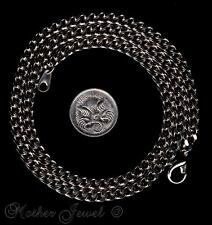 White Gold GP 50cm Necklace Thick 4.5mm Curb Mens Ladies Boys Girls Unisex Chain
