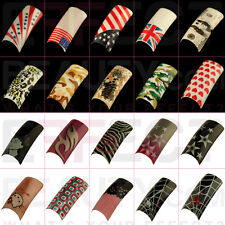 SALE ALL £1!100 Fun Acrylic Pre-Designed Nail Tips 28 Designs to Choose