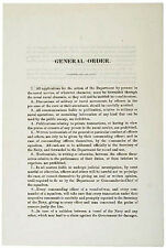 Civil War Navy General Order, 1862