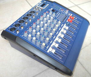 Pro 6Ch Karaoke Music Power Mixer Console Mixing 800W Amplifier  48V USB SD