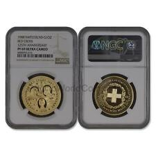 Switzerland 1988 Red Cross 125th Anniversary 1 oz Gold NGC PF69 UC SKU# 6726