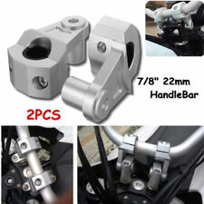 "7/8"" to 1-1/8"" Motorcycle Bike Handlebar Handle Fat Bar Mount Clamps Riser"