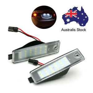 2Pcs Rear Led License Number Plate Lights Lamps White For Lexus RX300 1998-2003