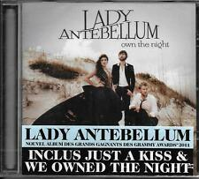 CD 13T LADY ANTEBELLUM OWN THE NIGHT 2011 NEUF SCELLE FRENCH STICKER