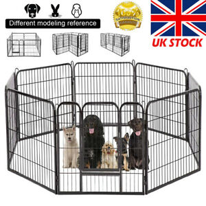 8 Panel Foldable Pet Play Pen Puppy Dog Rabbit Cage Run Fence Exercise Playpen