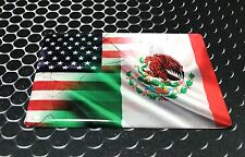 """America USA MEXICO Dual Country Domed Decal Distress Sticker 3D 3.25""""x2"""""""