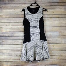 Greylin Antropologie NWT Black/White Textured Printed Stretch Dress Sz XS