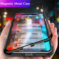 For Xiaomi Redmi 9A Note 9S 8 7 6 Pro Magnetic Adsorption Metal Bumper Case Skin