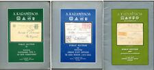 Greece Griechenland 3 Postmarks & Cancellations Auction Catalogs A. Karamitsos
