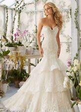 Mermaid & Trumpet Regular Unbranded Sleeve Wedding Dresses