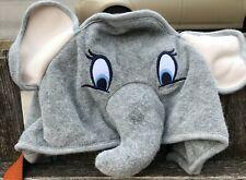 "Baby Gap Disney Baby Gray Dumbo Elephant Hooded Bath Towel 32"" x 32"" Euc"