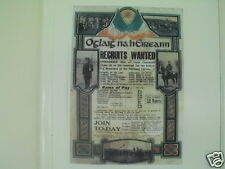 IRISH REPUBLICAN ARMY RECRUITS WANTED POSTCARD EASTER RISING COLLECTORS ITEM