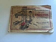 How To Make 'Em Book The New Erector A. C. Gilbert Co. 1938 Ed. Softcover