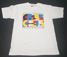 New (M) CROSS COLOURS Skate Division White Shirt Hip Hop Ya Dig Streetwear
