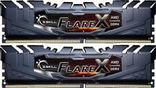 G.Skill Flare X schwarz DIMM Kit 16GB, DDR4-3200, CL14, Dual Kit, DDR4 RAM