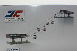 Jägerndorfer 82498 Carril de Cable D Línea Set Kohlmaisbahn + 6 Gondeln H0 1:87