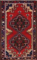 Vintage Geometric Tribal Traditional Area Rug Hand-Knotted Oriental Carpet 4x7