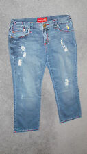 Baby Phat Size 5 Distressed Ultra Low Rise Cotton Denim Stretch Jeans