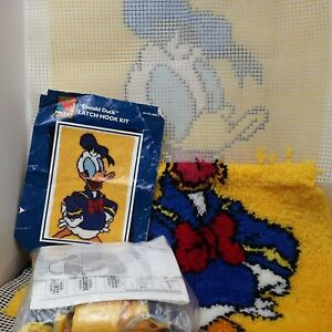 Caron Latch Hook Kit D0013 Mickey Unlimited Donald Duck 20x30 Started 1/2-Finish