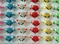 3pcs New mix colors with Rhinestones fashion My Fox Beauty Fancy Child kid Ring