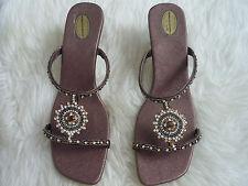 Femme Indienne Mariage Style guéri Brillant Chaussures London Chaussures Argent Brun 7
