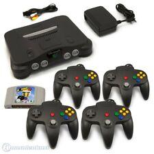 N64 / Nintendo 64 - Konsole + Bomberman + 4 Controller + Zub.