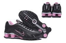 HOT NEW Women's Black/ Light Pink NIKE Shox Athletic Running Shoes