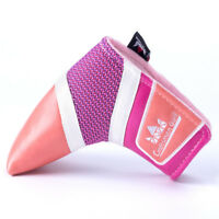 Golf Blade Putter Head cover Pink For Lady Golfer Gift by Craftsman US Ship New