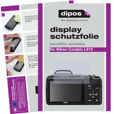 2x Nikon Coolpix L810 Schutzfolie klar Displayschutzfolie Folie unsichtbar