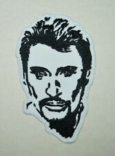 écusson , patch johnny hallyday , 13/8cm; broder et thermocollant