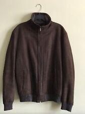 Ermenegildo Zegna Mans Genuine Leather And Genuine Mink Fur Jacket, Warm
