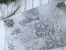 Personalised Christmas Family Wall Plaque Sign Home Decor P210