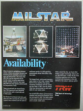 12/1982 PUB TRW MILSTAR SATELLITE MILITARY COMMUNICATIONS FLTSATCOM ORIGINAL AD