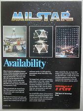12/1982 PUB TRW MILSTAR SATELLITE MILITARY COMMUNICATIONS FLTSATCOM ORIGINAL AD