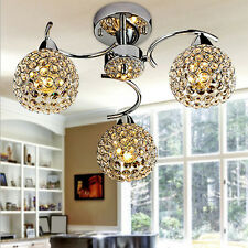 Modern Crystal Metal Ceiling Lighting Chandelier Light Lamp Pendant Fixture 40W