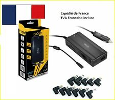 Chargeur Alimentation allume cigare pour PC portable 110W- 11 embouts universels