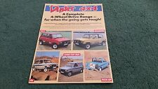 Oct 1987 / 1988 DACIA DUSTER 4x4 + SHIFTER PICKUP & DROPSIDE UK LEAFLET BROCHURE
