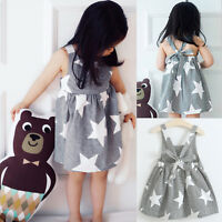 Summer Kids Toddler Baby Girls Party Princess Tutu Dress Casual Holiday Sundress