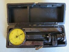 Vtg Federal Products Testmaster Jeweled Gauge Dial Indicator W Case Tool 001