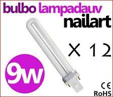 12 PEZZI BULBI 9W PER LAMPADA UV 36W RICOSTRUZIONE UNGHIE NAIL 9 W LAMPADE KIT