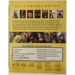 NEW CHUCKY COMPLETE 7 MOVIE COLLECTION BLU RAY 7 DISC SET LENTICULAR COVER ORIGI
