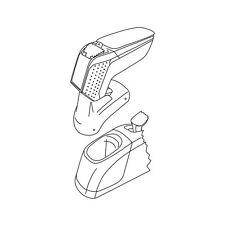 Armster 2, bracciolo su misura - Nero - Fiat 500L - Living
