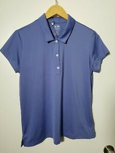 1 NWT ADIDAS WOMEN'S POLO, SIZE: LARGE, COLOR: STORM (J133)